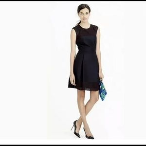 J. CREW | perforated a line black fit flare dress
